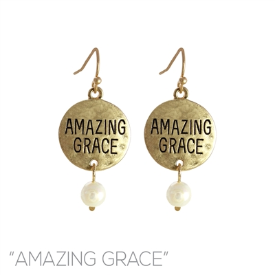 26061 AMAZING GRACE HAMMERED EARRINGS