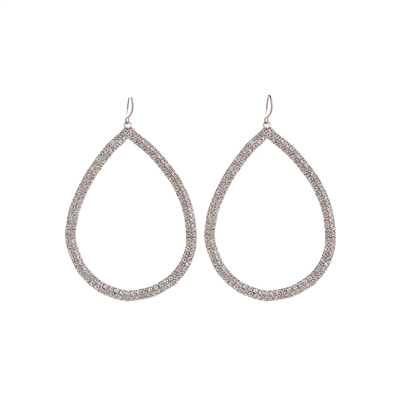 26251CR-30 RHINESTONE TEARDROP EARRINGS