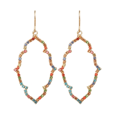 26349 MULTICOLOR RHINESTONE EARRINGS