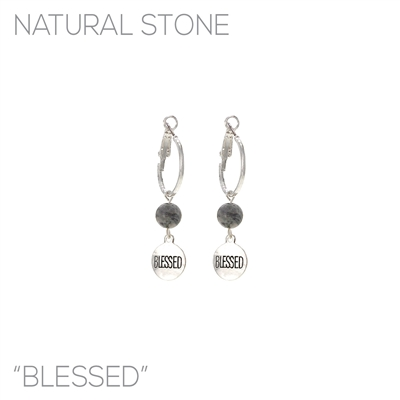 """BLESSED"" STONE EARRING"