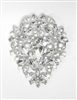 30738 LARGE CRYSTAL BROOCH
