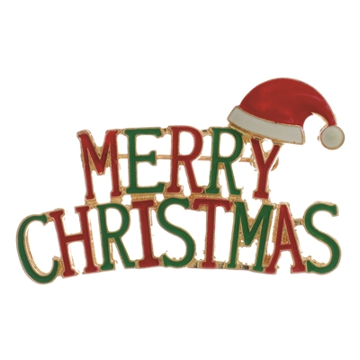 30952 ''MERRY CHRISTMAS'' BROOCH