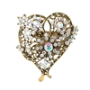31329 CRYSTAL HEART BROOCH