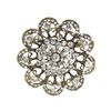 31331 CRYSTAL FLOWER BROOCH