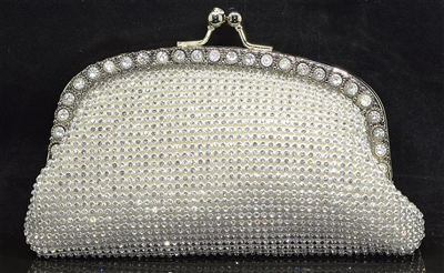 560924-930 RHINESTONE EVENING BAG