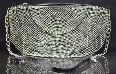 561782 RHINESTONE SKIRT EVENING BAG