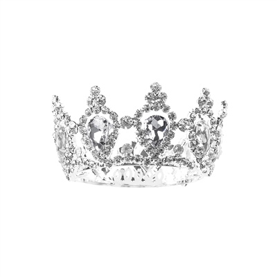 60676CR SILVER/CLEAR RHINESTONE SMALL CROWN