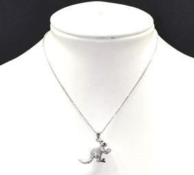 6331/N Kangaroo Rhinestone Necklace