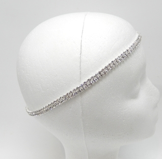 71017 TWO ROW RHINESTONE HEADBAND