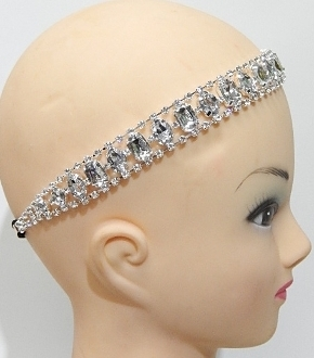 71073 TWO RHINESTONE HEADBAND