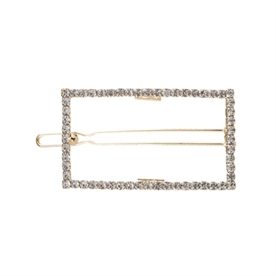 71733 RECTANGLE RHINESTONE HAIR CLIP