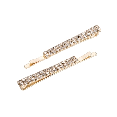 71782CR RHINESTONE HAIR CLIPS