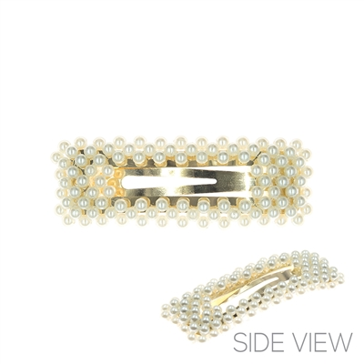 71833 PEARL RECTANGLE HAIR CLIP