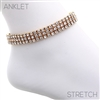 80873ACR THREE LINES CLEAR RHINESTONE ANKLET