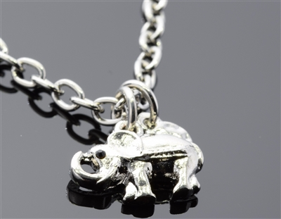 82570A-S CA r elephant charm chain anklet
