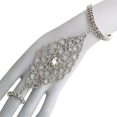 82864CR S DROP RING RHINESTONE BRACELET