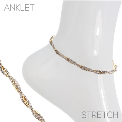 83338- Twisted Ankle Bracelet