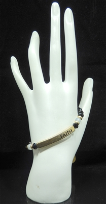 "83400 BEADED ""FAITH"" BRACELET"
