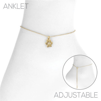 83521A PAW PRINT CHAIN ANKLET