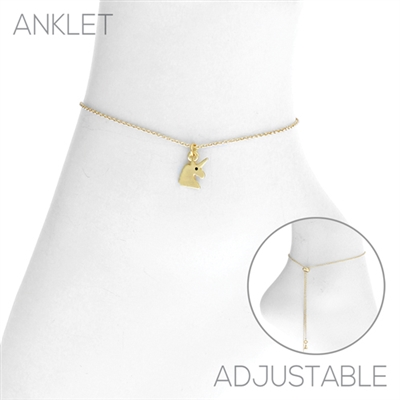 83525A UNICORN CHAIN ANKLET