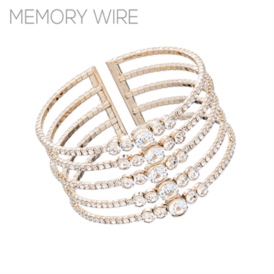 83535CR RHINESTONE CUFF BANGLE