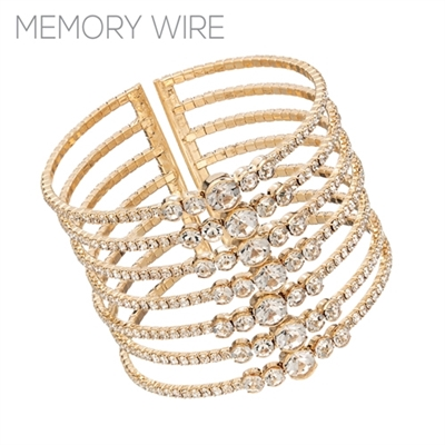 83536CR RHINESTONE CUFF BANGLE