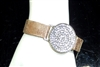AB1968 RHINESTONE CIRCLE LEATHER BRACELET