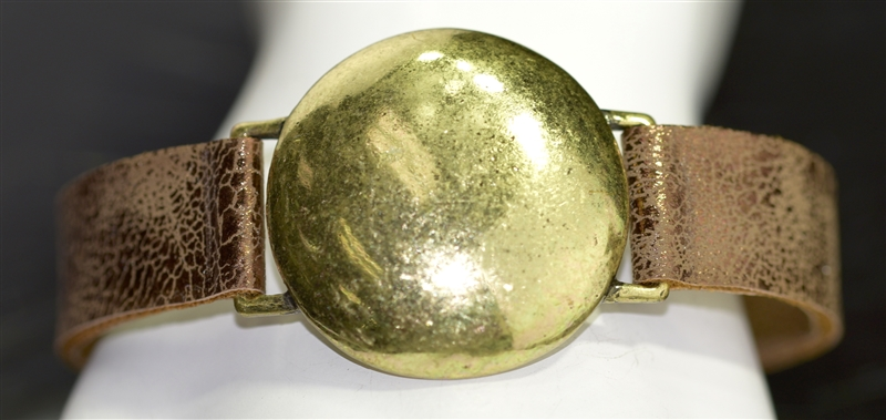 "AB1973 HAMMERED ""DOT"" PATINA BRACELET"