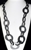ACN105 GRAY ACRYLIC CHAIN NECKLACE