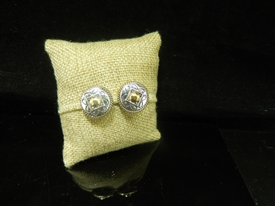 SMALL CIRCLE CLIP ON EARRINGS