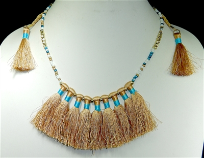 AN1548 SUEDE TASSEL NECKLACE