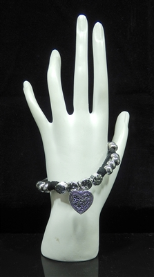 BR2015 ANTIQUE HEART BRACELET