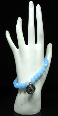 BR2310 BEADED BEAR STRETCH BRACELET