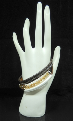 BR3019 3 LAYER BEADED MAGNETIC BRACELET