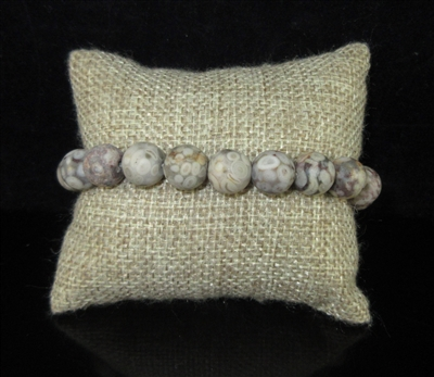 BRS059 NATURAL MULTI GRAY STONE BRACELET