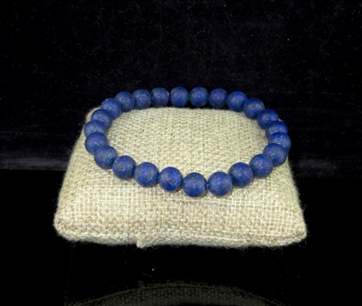 BRS070 6MM NATURAL STONE BEADED BRACELET