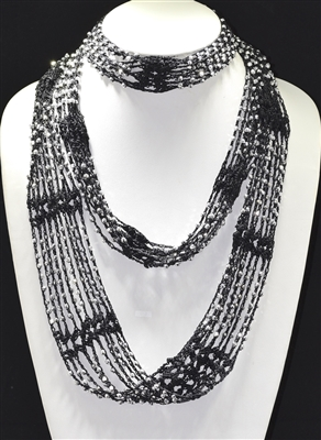 BSC002 KNIT BEADED SCARVES-INFINITY
