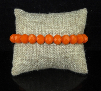 "CB10BTRO 10MM ""TIGER ORANGE"" SOLID CRYSTAL BRACELET"