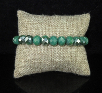 CB10EDG EMERALD GREEN SOLID CRYSTAL BRACELET