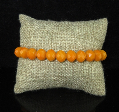 "CB10MDO ""MARIGOLD"" ORANGE SOLID CRYSTAL BRACELET"