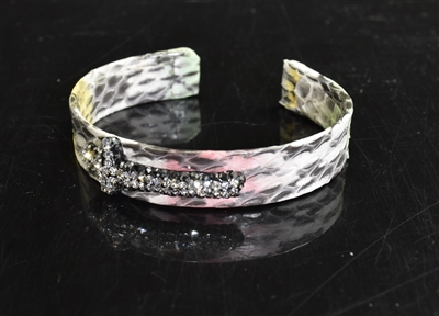 CB150 CROSS SNAKE SKIN BANGLE