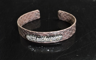 CB159 BROWN SNAKE SKIN BANGLE