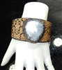 CB167 CLAY DRUZY RHINESTONE BANGLE