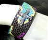 CB186 SNAKESKIN CROSS CLAY DRUZY BANGLE