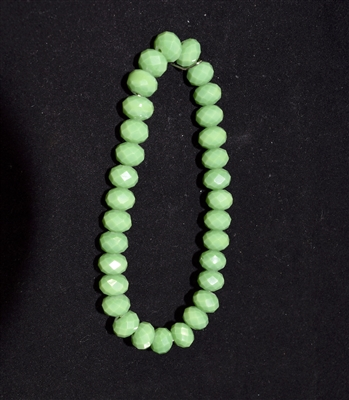 CB8G 8MM CRYSTAL GREEN BEADED BRACELET
