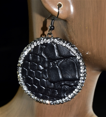 CD101 SNAKE SKIN CIRCLE EARRINGS