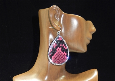 CD121 CLAY DRUZY SNAKESKIN EARRINGS