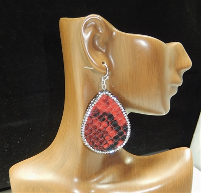 CD123 CLAY DRUZY SNAKESKIN EARRINGS