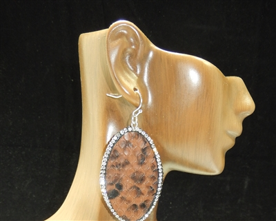 CD129 CLAY DRUZY SNAKESKIN EARRINGS