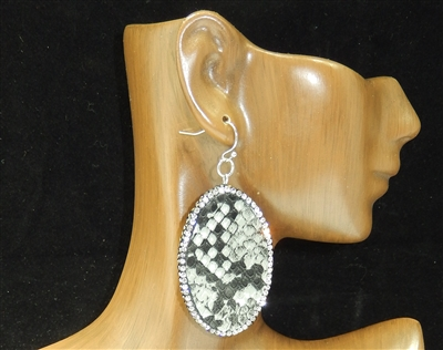 CD130 CLAY DRUZY SNAKESKIN EARRINGS